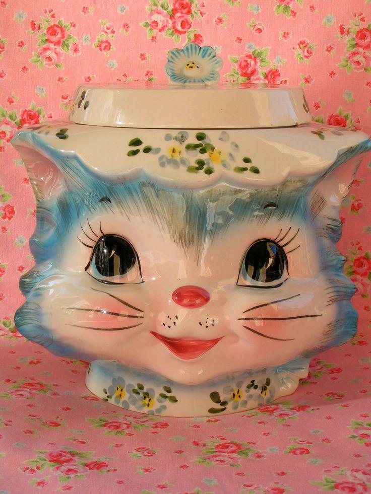 SALE...Vintage Lefton Miss Priss Cookie Jar. $110.00, via Etsy.