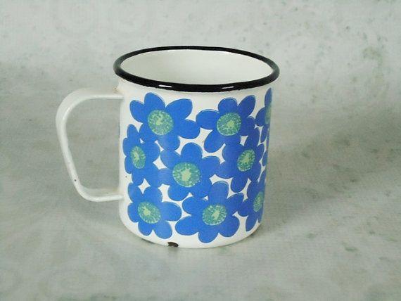 Finel Arabia Floral Mug  Vintage Finel Arabia  more here:  http://swirlingorange.com