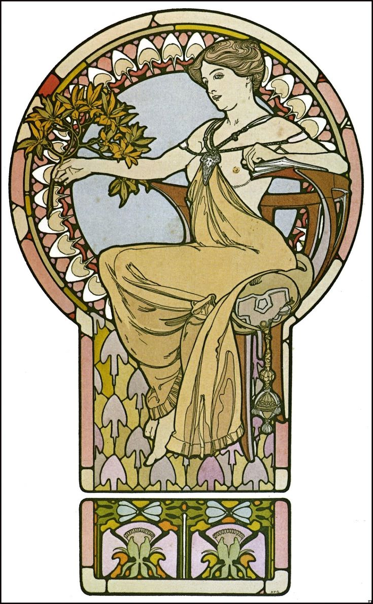 17 best images about art nouveau on pinterest byzantine for Poster decoratif