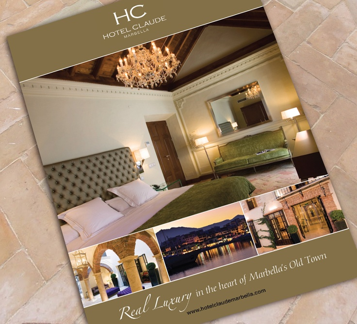 Promotional literature for the beautiful and luxurious Hotel Claude Marbella.
