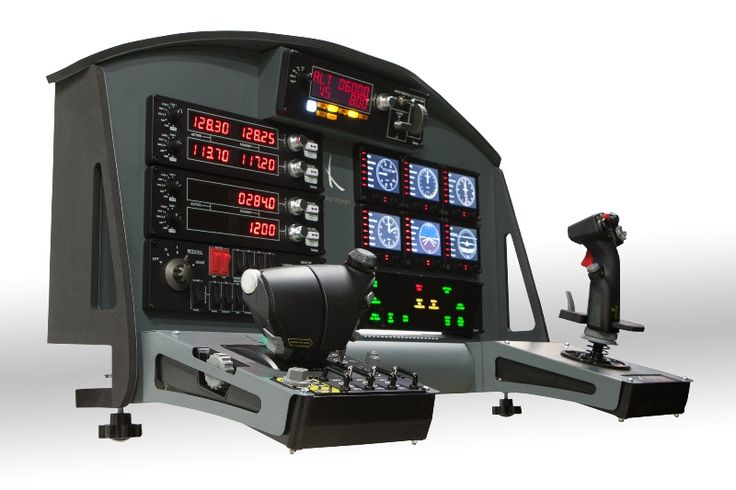 MyTOP Grey flight panel - affordable and user-friendly flight instrument panel compatible with Saitek X52 and X55! More on www.agronn.com