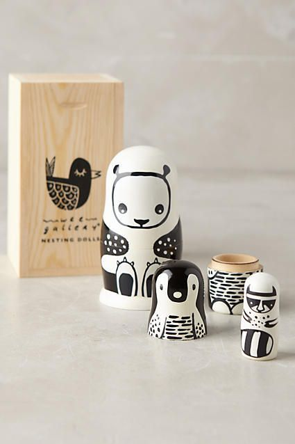 This is beautiful. For Play and for Art. Beautiful Wooden Box and Nesting Dolls. Gift for child to keep for ever. #nestingdolls #affiliate