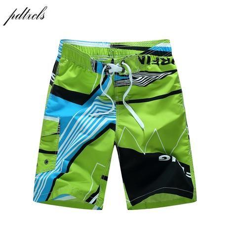 3197a9a621 Summer Quick-drying Board Shorts Trunks Mens Beach Shorts Fashion Printed Beach  Shorts Bermuda MasculinaDe
