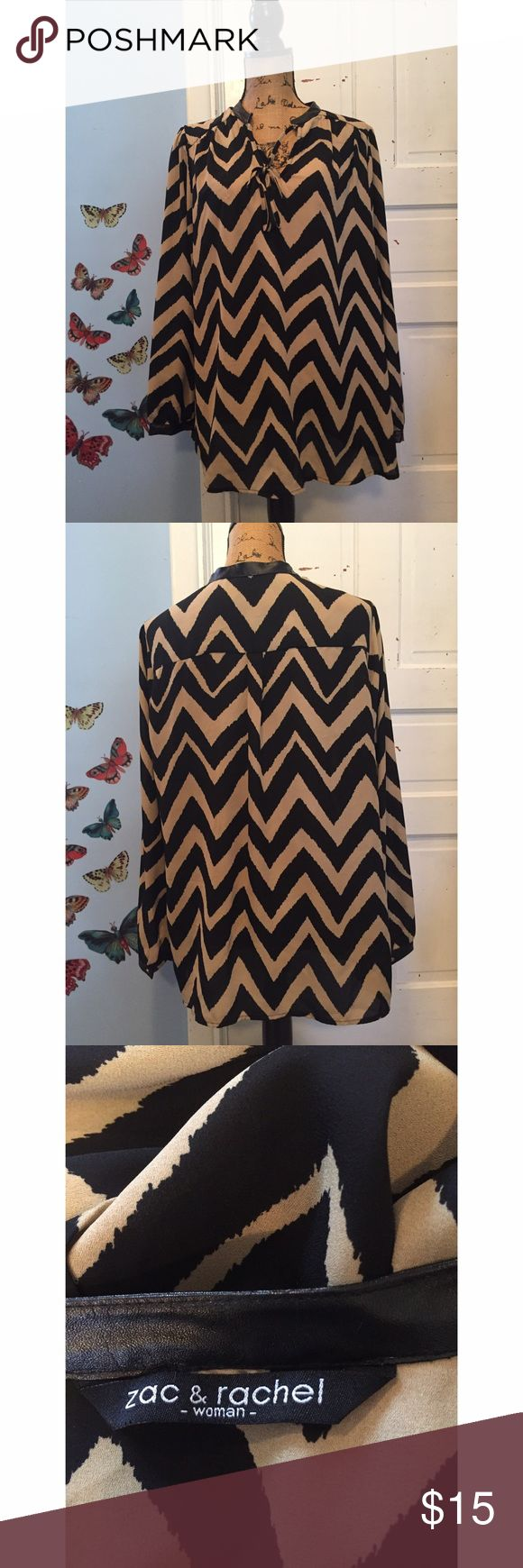 Zac & Rachel Chevron Blouse Measurements - Bust 25in / Length 27in In beautiful condition! ❤️ Has one small pull in the front but hardly noticeable when worn! zac & rachel  Tops