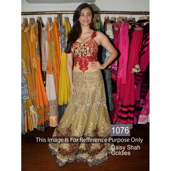 Daisy Shah Goldies Velvet Designer Gown