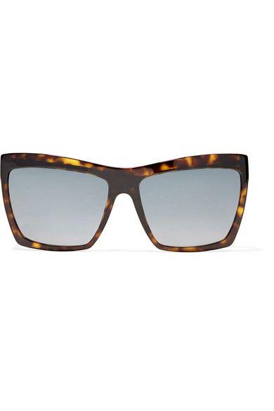 Balenciaga - Square-frame Tortoiseshell Acetate Sunglasses - one size