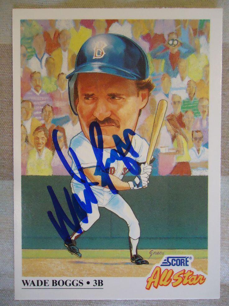 1991 score 393 wade boggs ttm baseball cards cards