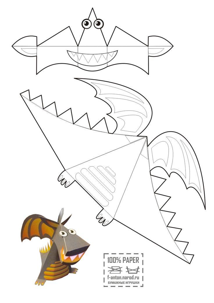 dragon à colorier fait