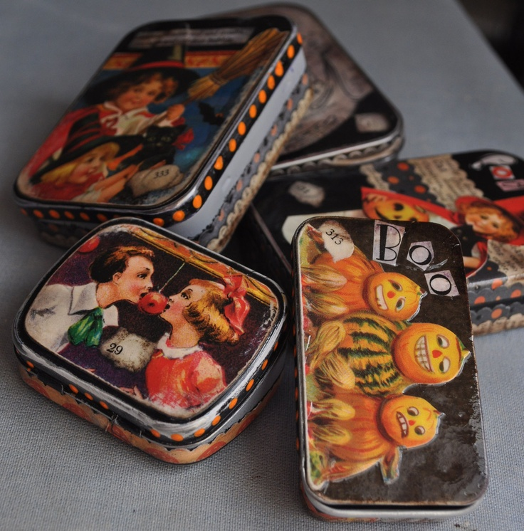 Altered Altoids Tin -- Witch Box No. 333 -- Halloween. $12.95, via Etsy.