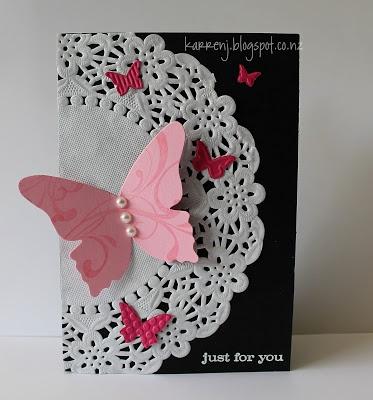KarrenJ - Stamping Stuff: Butterfly Doily