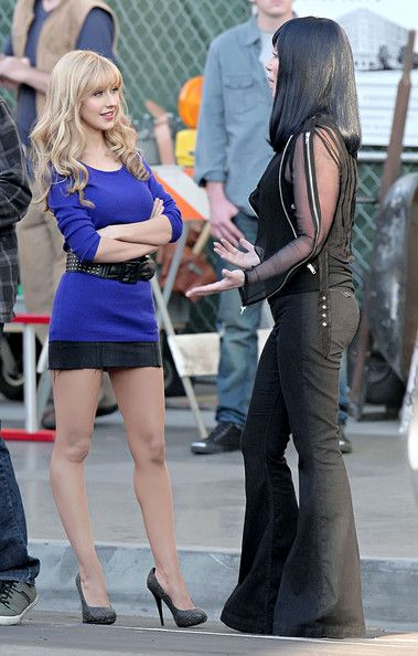 Christina Aguilera on the set of Burlesque!!! I love this movie so much!!!!