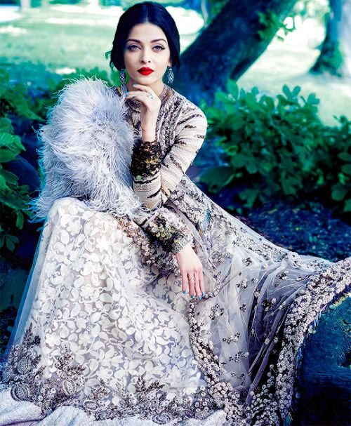 wulfrvc: baawri: Aishwarya Rai in Sabyasachi Mukherjee For Harper's Bazaar Bride Imagine her as Maleficent