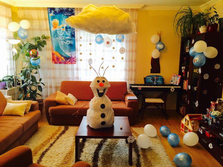 Csináld magad Jégvarázs Olaf születésnapi party dekoráció / DIY Frozen Olaf Birthday Party Decoration - SZMK
