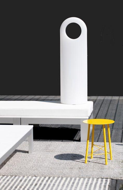Kotimaisen Innoluxin valikoimassa on myös useita design-terassivalaisimia. Kuvassa Eero Aarnion suunnittelema Origo.