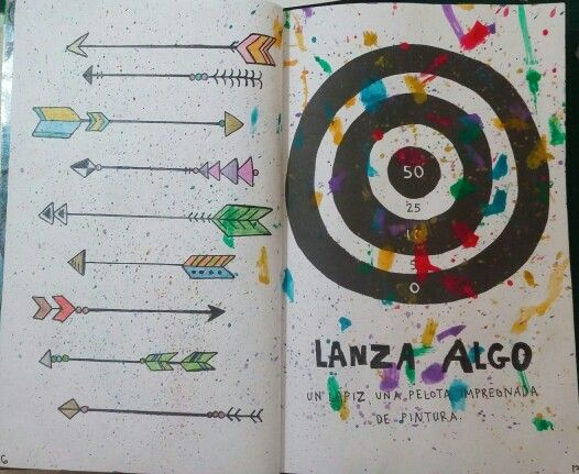 "Destroza este diario/Wreck this journal ""Lanza algo"" ""Throw something"" #Paint                                                                                                                                                                                 Más"