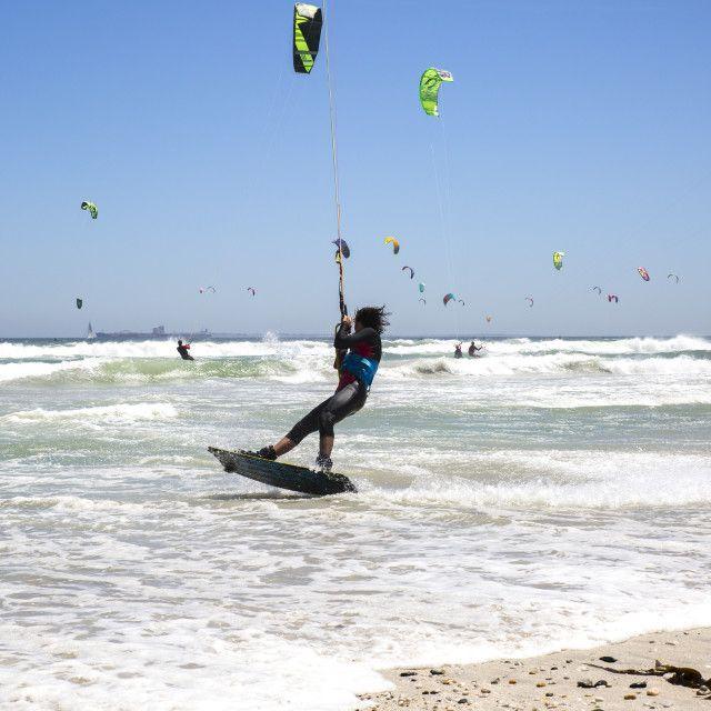Action at the Virgin Kitesurfing Armada South Africa - world record breaker