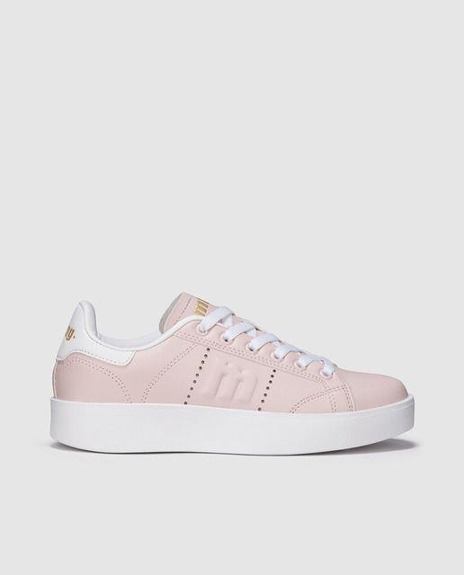 Zapatillas deportivas de mujer Mustang con cordones en color rosa ... f5864b9fb69d6