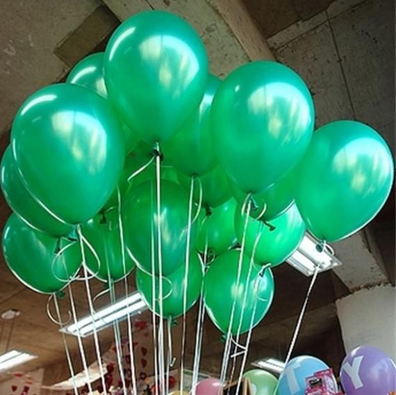 Birthday Wedding 6 Green Large Latex Balloons Party!