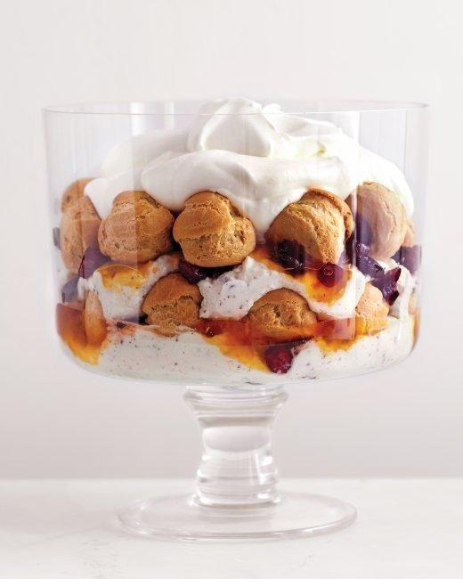 Chocolate Cream-Puff Trifle Recipe