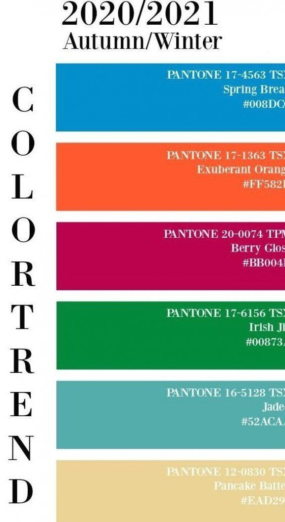 Color Trend Pantone 2020 2021 Autumn Fashion Fashiontrends Fashionsummer In 2020 Color Trends Fashion Pantone Trends Fashion Trend Forecast