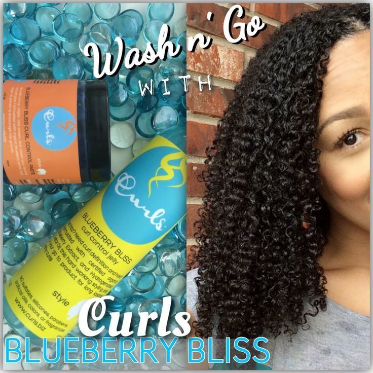 Wash n' Go with Curls Blueberry Bliss Curl Control Jelly