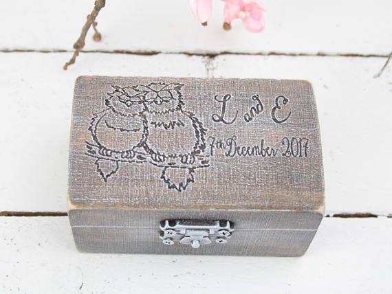 Ring Bearer Box Wedding/Engagement Ring Box Personalised