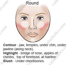 Makeup Contouring for Round Face | Contouring for a Round Face