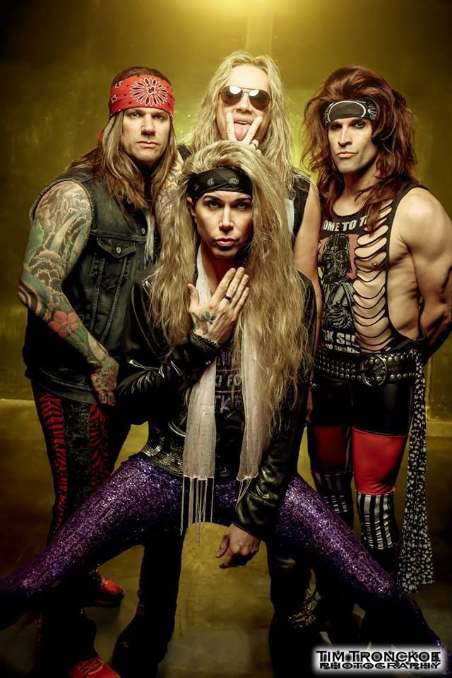 Spread Eagle ? Whaaa?? Steel panther ( Constipated pose)