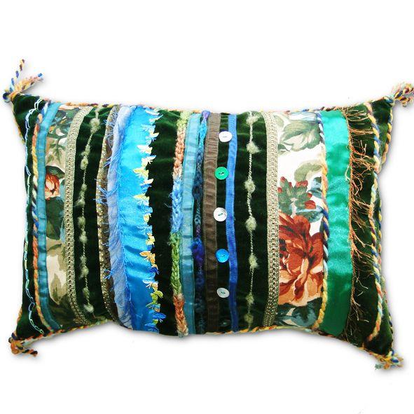 Decorative  Velvet Cushion - Deep Green