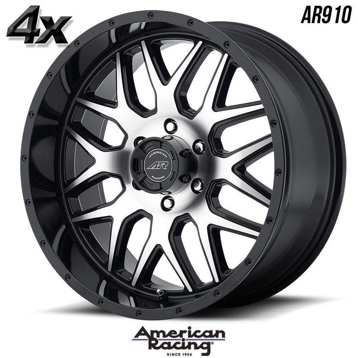 "4 American Racing AR910 20""x9"" 6x139.70 Gloss Black OFST:0mm 20 Inch Rims 20X9 Wheels"