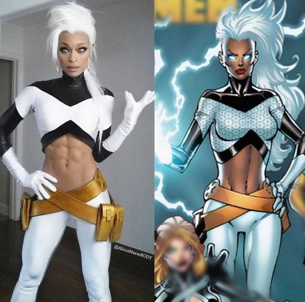 DIY X-Men Storm Halloween Costume Idea 2