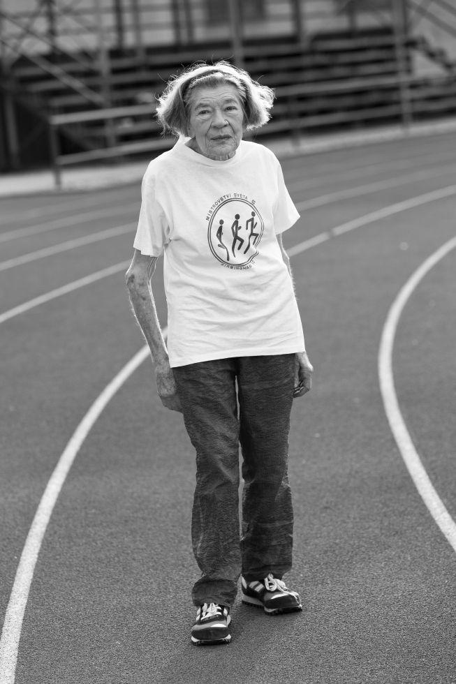 Seniorská běžkyně Marie Hanáková, Autor: Michal Protivanský