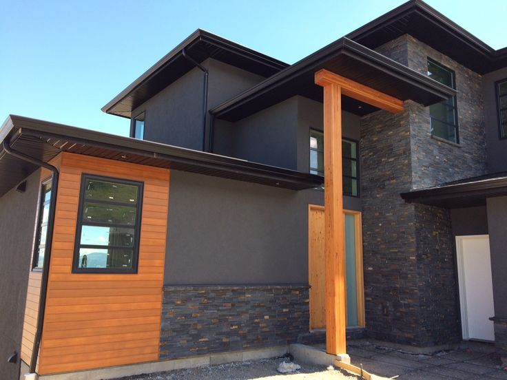 Modern Home By Mdt Homes Kamloops Bc With Charcoal