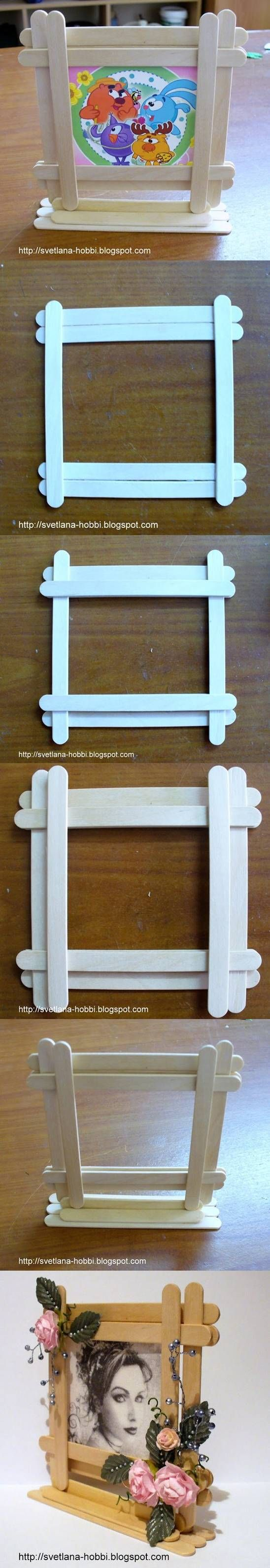 DIY Easy Popsicles Picture Frame | UsefulDIY.com Follow Us on Facebook ==> http://www.facebook.com/UsefulDiy