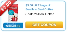 Seattle's Best Coffee Coupon ~ Save $3.00 Off of 2 Bags!
