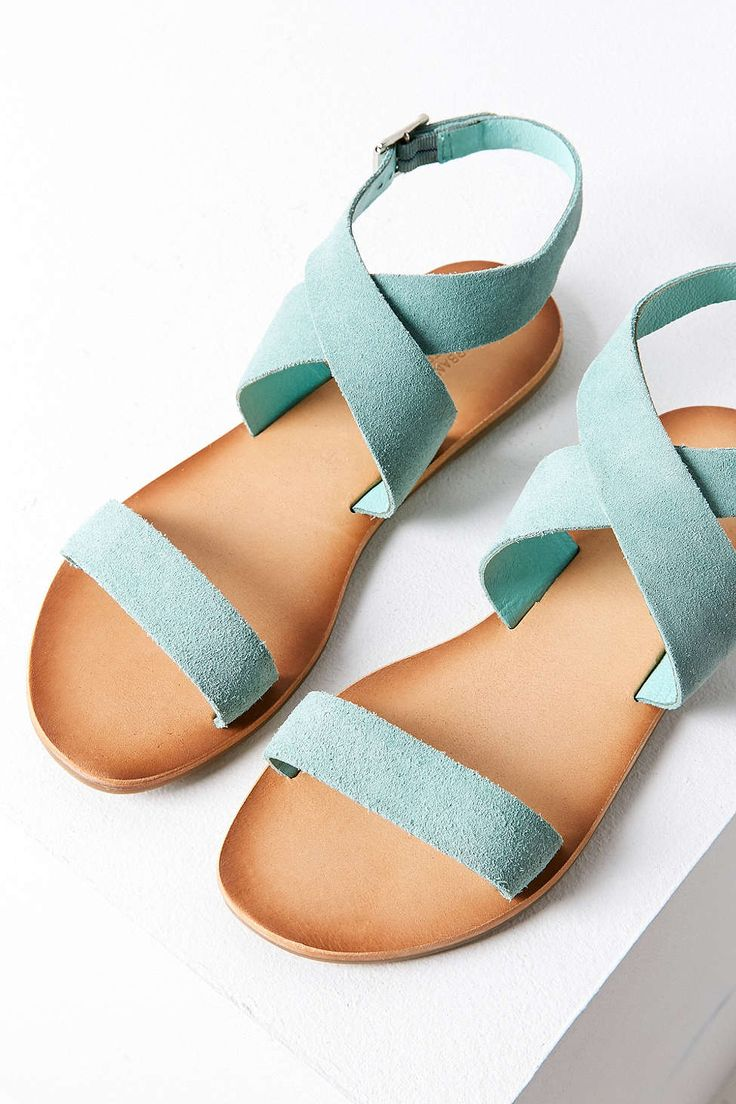 Urban Louie Suede Ankle Wrap Sandal love these...my other blue sandals broke :(