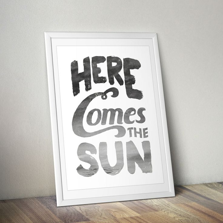 HERE COMES THE SUN / Print  By Bones Design available at thebonesgroup.bigcartel.com