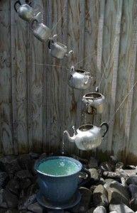 Spring garden ideas- teapot fountain