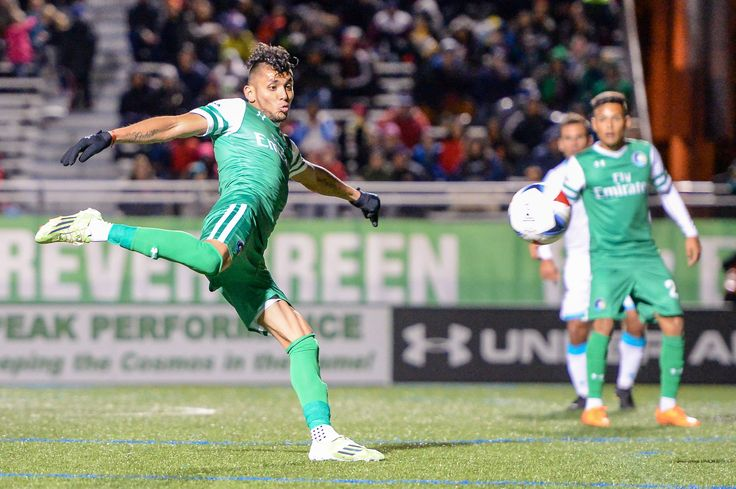 @Cosmos player Yasmani Duk fires a shot on target #9ine