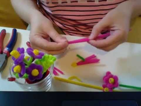 Pipe Cleaner Flower Pot #13, MOST POPULAR!  by http://www.pipecleanercrafts.co.uk