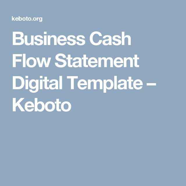 Business Cash Flow Statement Digital Template u2013 Keboto Templates - cash flow statement template