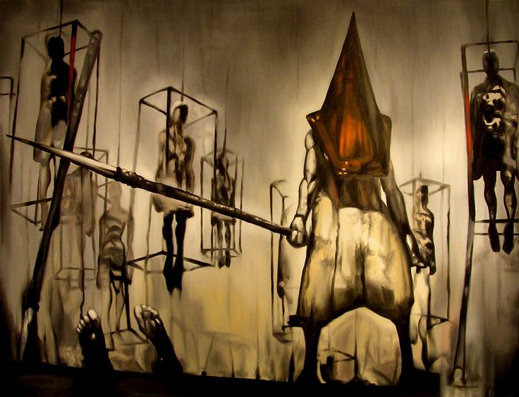 """Title: Misty day, remains of the judgment Date: 04/30/2007 Size: 54"""" x 72"""" (4½ ft. x 6 ft.) Material: Canvas on Wooden Frame Medium: Oil Anyone who's played Silent Hill 2 and is even a remote fan o..."""