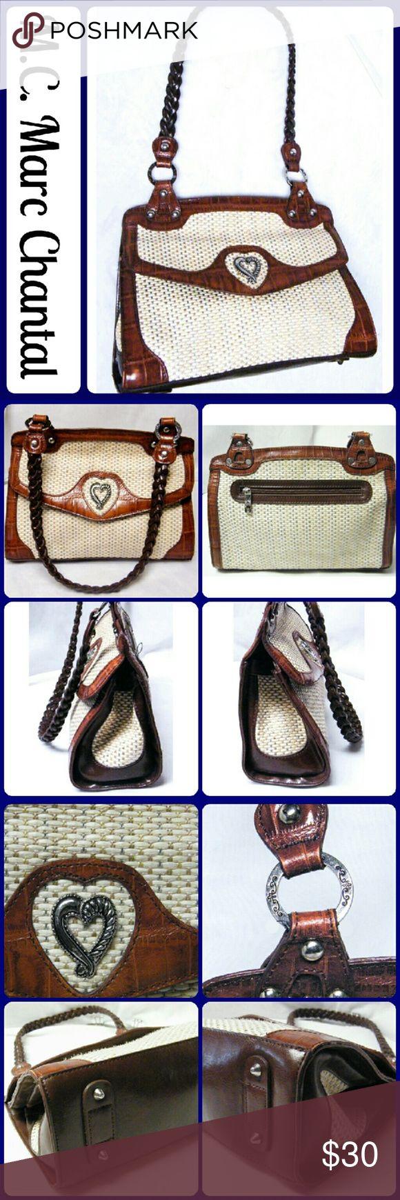 """M.C. Marc Chantal Croc/Sand Weave Shoulder Bag This is a pre-owned M.C. Marc Chantal Brown Croc /Sand Weave Shoulder Handbag. This purse is in excellent condition. Measures - Height 8"""", Length 11.5"""", strap drop 11"""" M.C. by Marc Chantal Bags Satchels"""