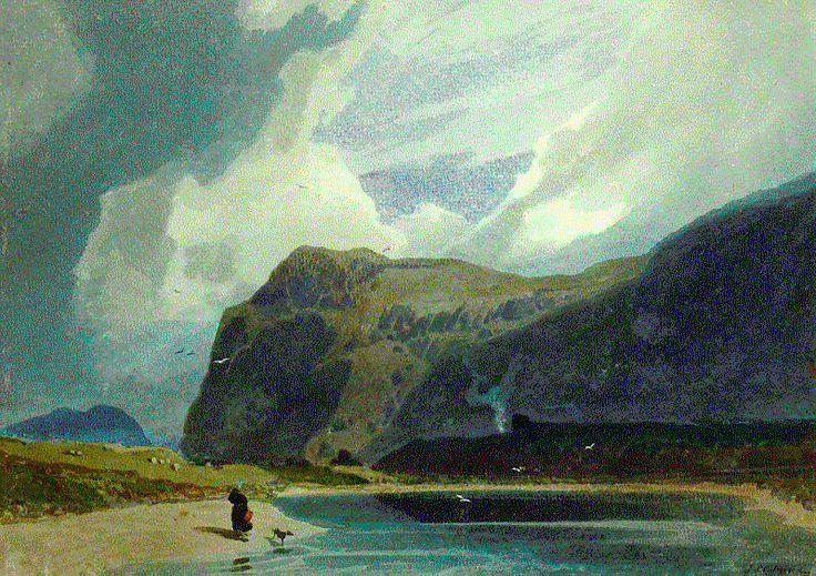 Cotman Mountain scene in Wales