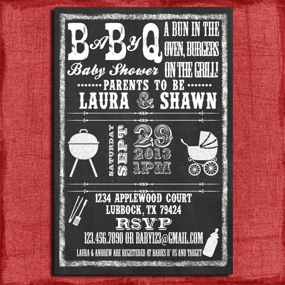 17 best Baby Q Invitations images on Pinterest