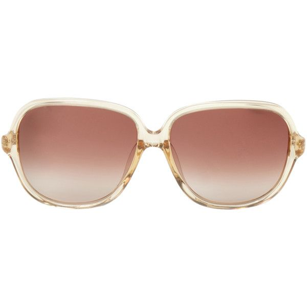 TOMS Women's Marisol Oval Frame - Brown (£87) ❤ liked on Polyvore featuring accessories, eyewear, sunglasses, brown, oval glasses, toms sunglasses, toms eyewear, logo lens sunglasses and brown lens sunglasses