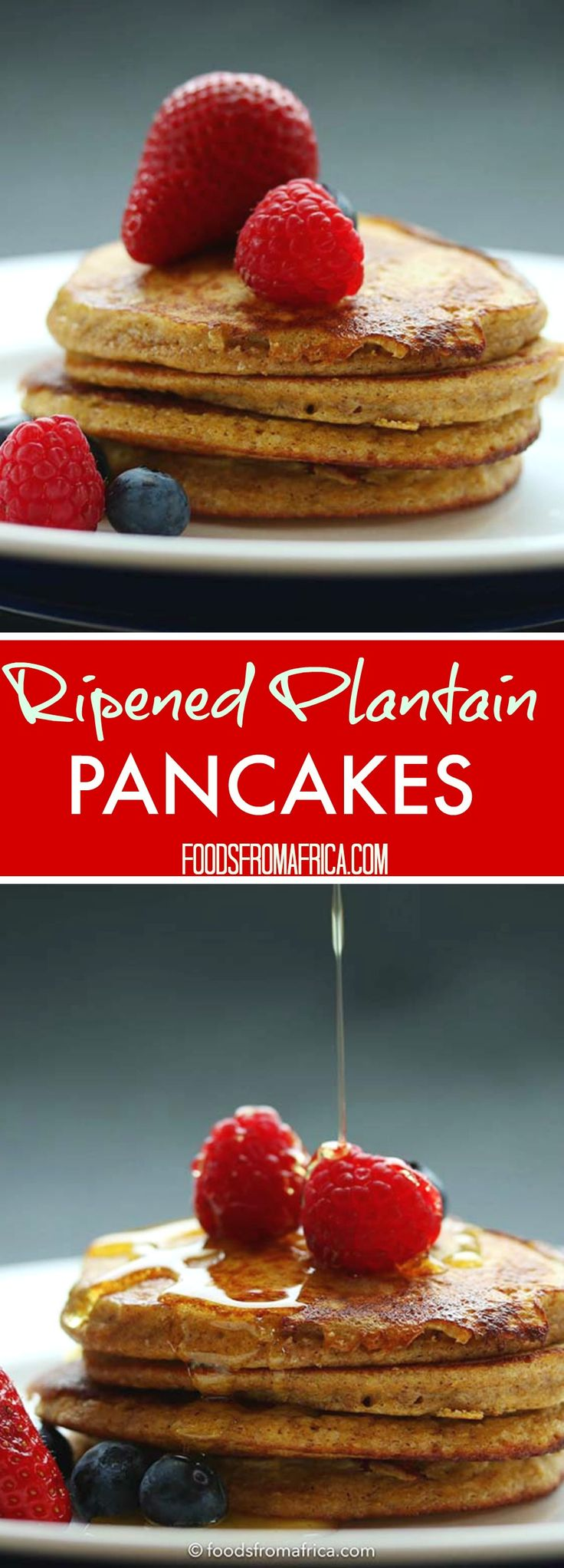 Ripened Plantain Pancakes. Easy, Healthy and Delicious Breakfast Recipe. Afro-fusion food blog | African recipes | African food blog.