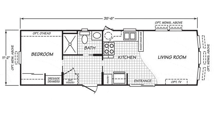 16x36 Mobile Home Floor Plan Mobile Home Floor Plans Floor Plans Cabin Floor Plans