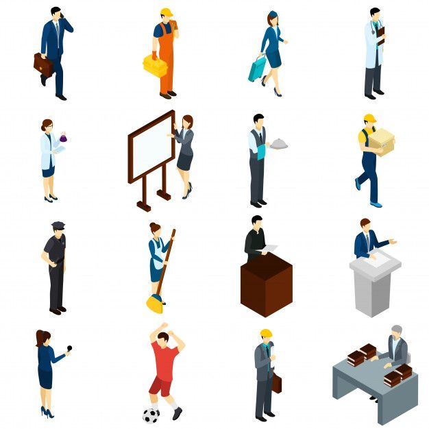 Download Professional People Work Isometric Icons Set for ...