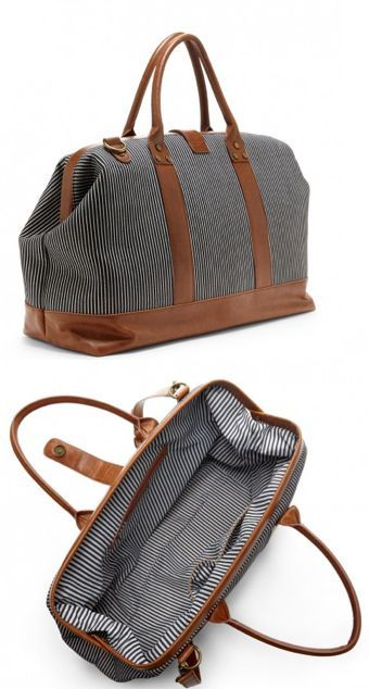 Striped weekender- Perfect bag for a weekend away.